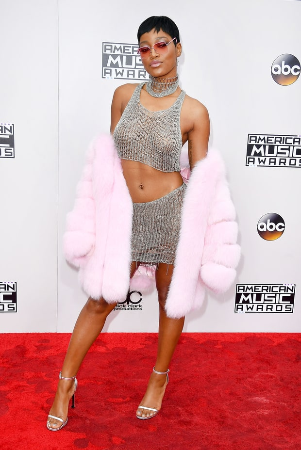 "It's not so much Keke Palmer's metallic Natalia Fedner two piece micro skirt with a playful pink fur, it was more due to the fact that her ""performance"" on the red carpet was a little too much and seemes contrived and cliche...not natural"