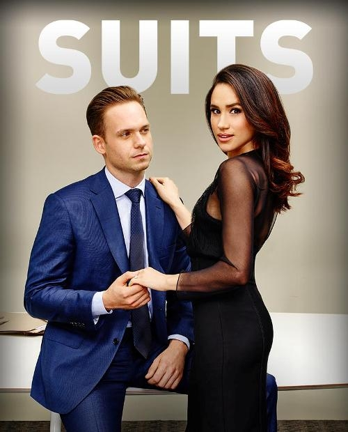 Patrick J. Adams as Mike and Meghan Markle as Rachel Visit page View image Share