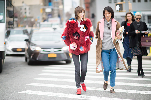 Statement furs are being worn by a wide variety of women everywhere