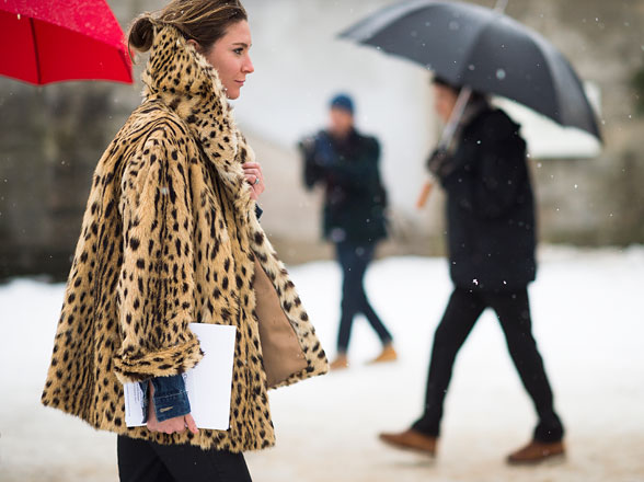 Animal print make impeccable street style