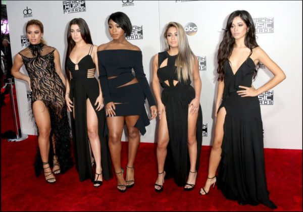 The girls of Fifth Harmony were all in synch. From left Dinah Jane hansen, Lauren Jauregui, Normani Hamilton, Ally Brooke and Camila Cabello