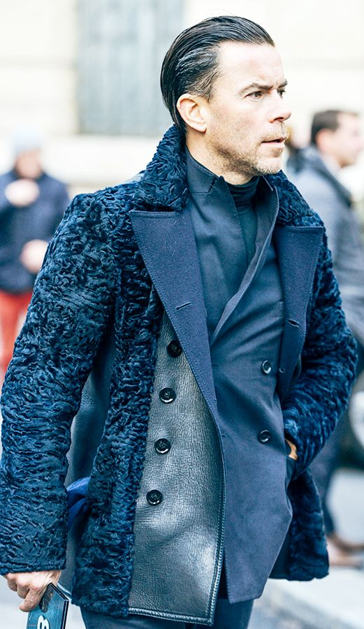 Fur with texture reads elegance and refinement