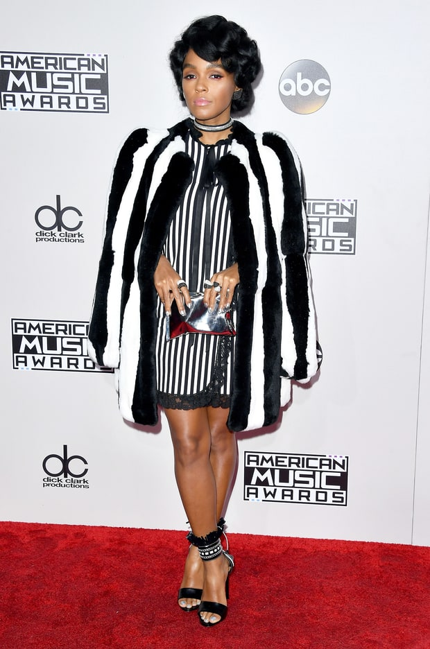 Janelle Monae broke down her red carpet style in black and white. Simple clean and elegant
