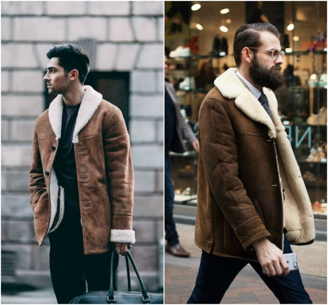 Shearling has long been a staple for stylish men