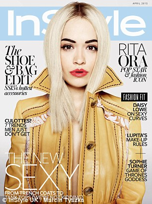 Rita Ora on the cover of InStyle Magazine