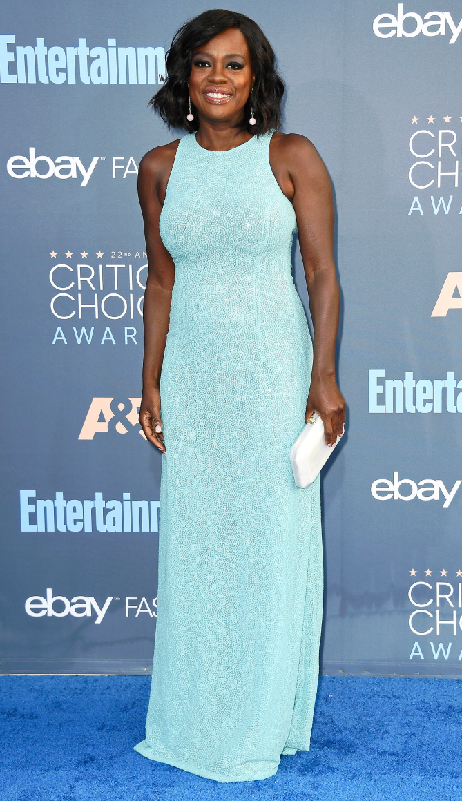 Actress Viola Davis attends The 22nd Annual Critics' Choice Awards