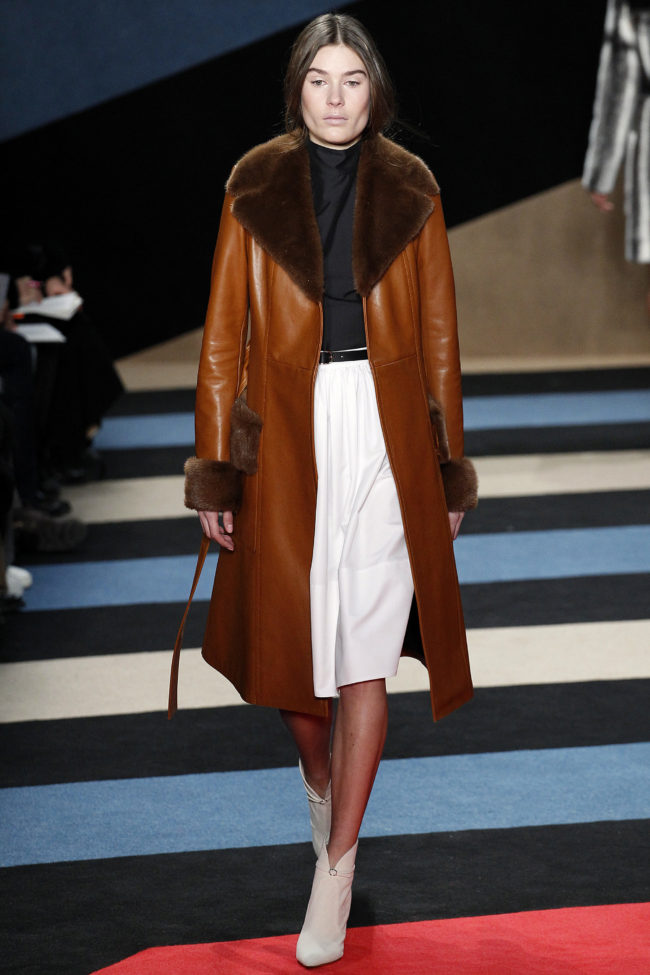 Derek Lam Fall 2016 fur collars