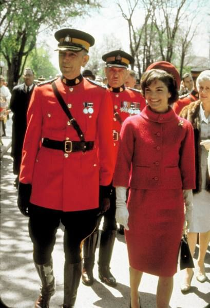 Oleg Cassini red suite for Jacqueline Kennedy