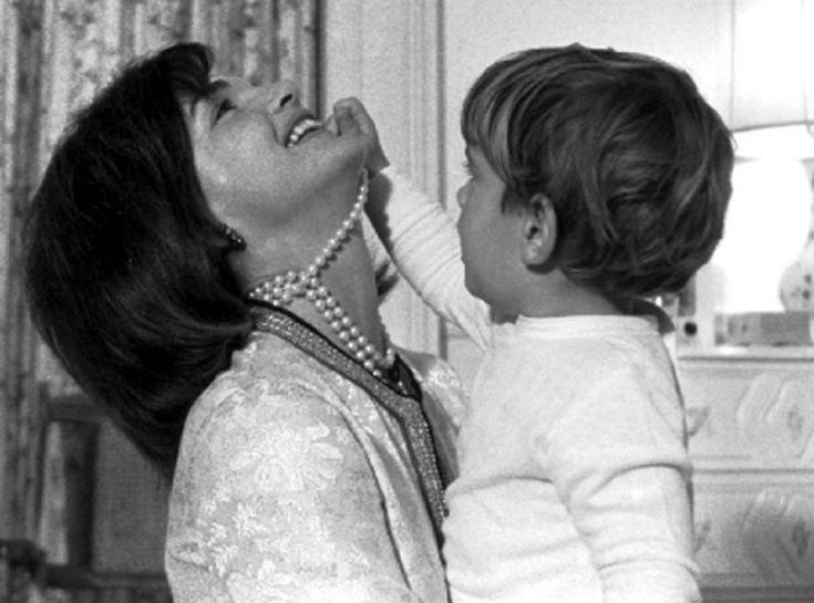 Jackie with her son John F. Kennedy Jr.
