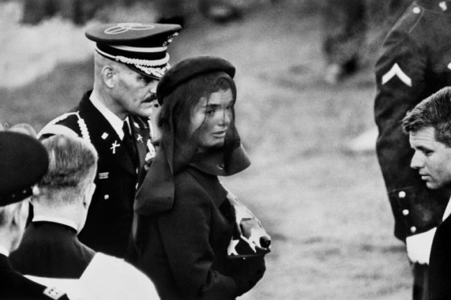 Jacqueline Kennedy mourning at John F. Kennedy funeral