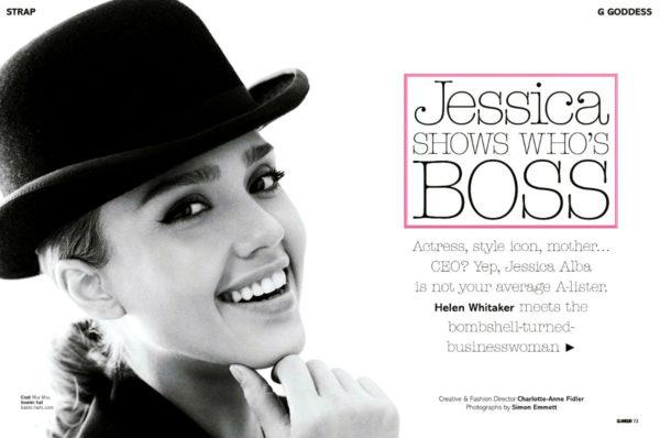 Jessica ALba in Glamour Magazine