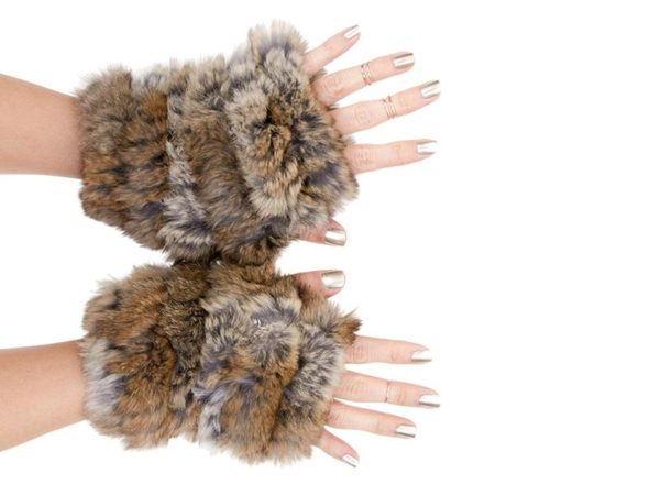fingerless fur gloves by Jocelyn