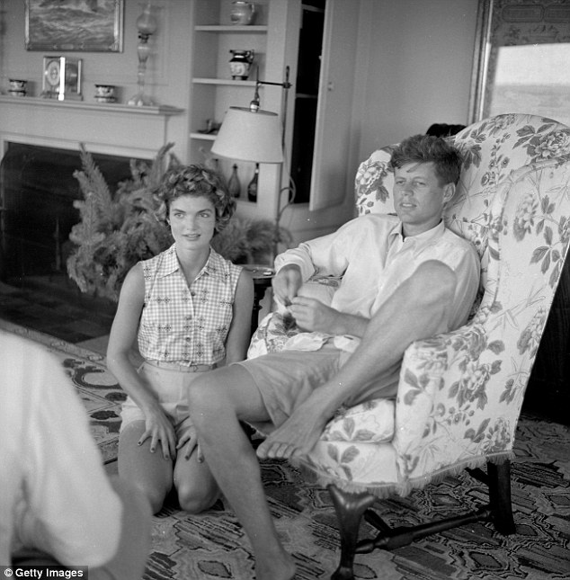 John F. Kennedy and Jackie O in Hyannis Portcirca-1953