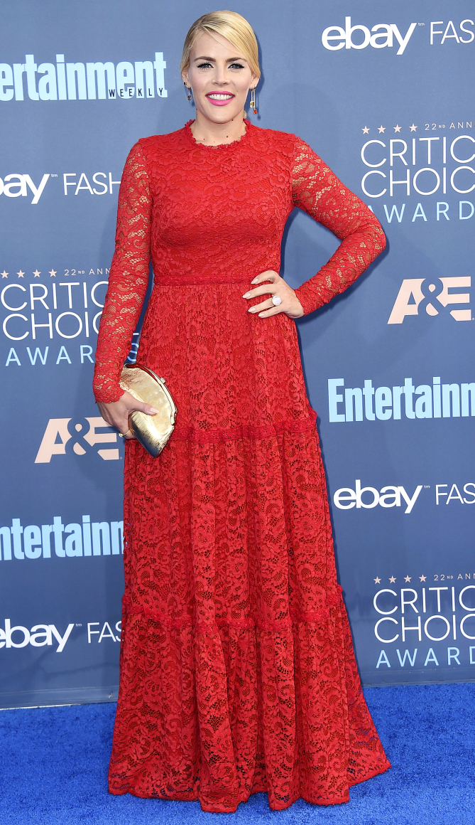 Busy Philipps arrives at the 22nd annual Critics' Choice Awards