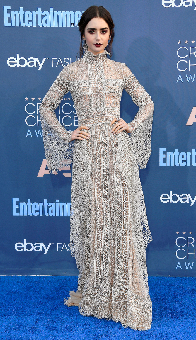 Lily Collins attends The 22nd Annual Critics' Choice Awards