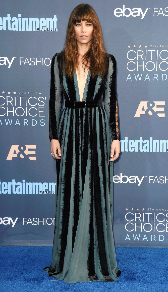 Actress Jessica Biel attends The 22nd Annual Critics' Choice Awards