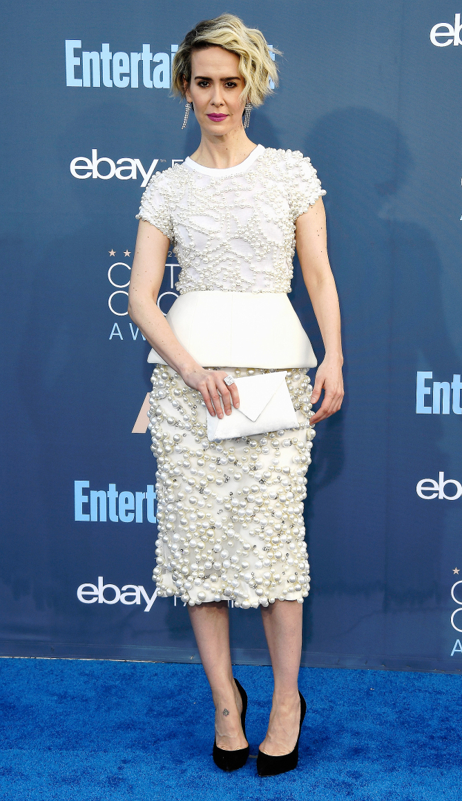 Sarah Paulson attends The 22nd Annual Critics' Choice Awards