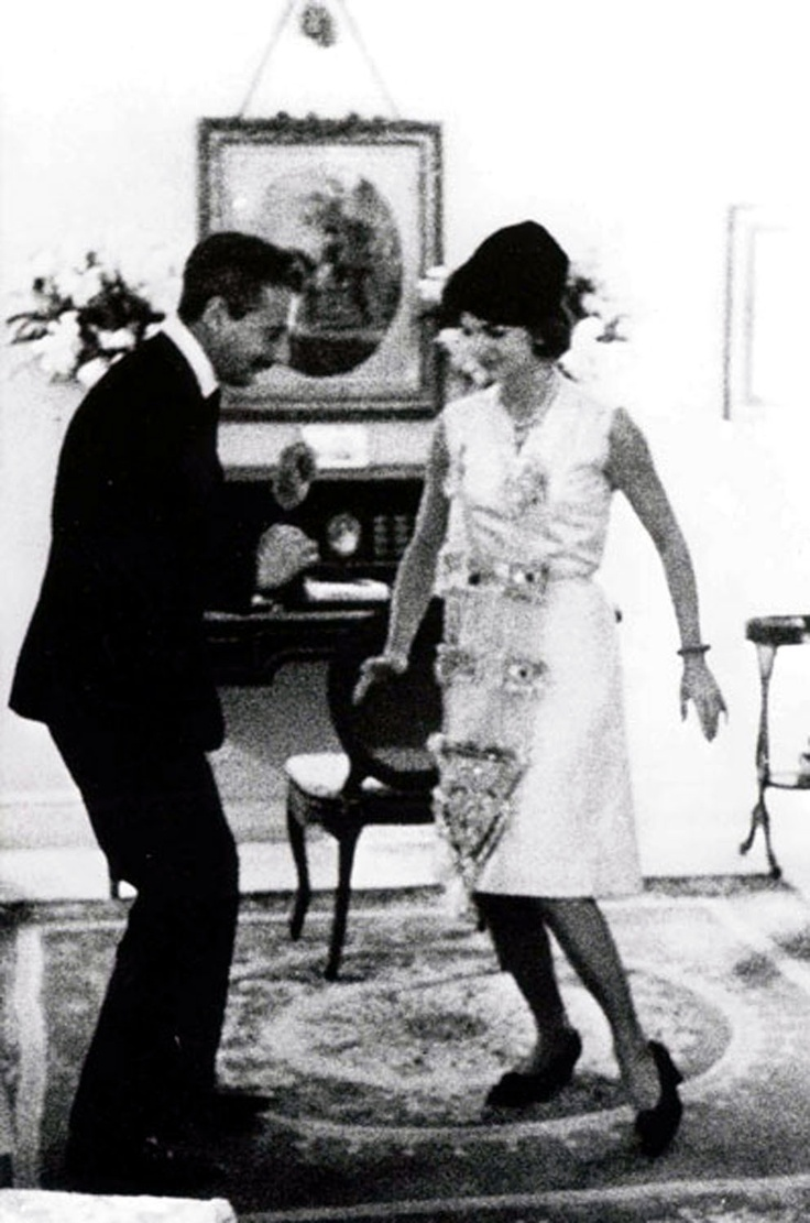 "Oleg Cassini and Jackie Kennedy doing ""The Twist"", circa early 1960's"
