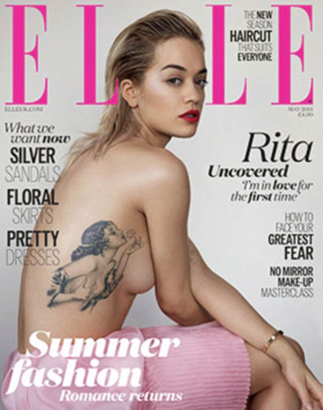 Rita Ora featured on the cover of UK Elle magazine
