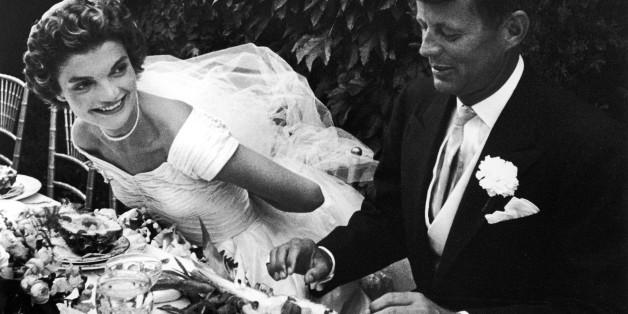 John F. Kennedy and Jacqueline Kennedy wedding day