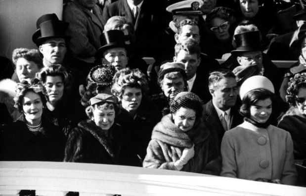 Sitting from left to right Pat Nixon, Mamie Eisenhower, and Lady Bird Johnson