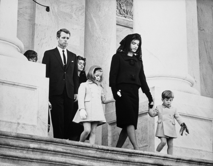 Jacqueline Kennedy at John F. Kennedy's funeral