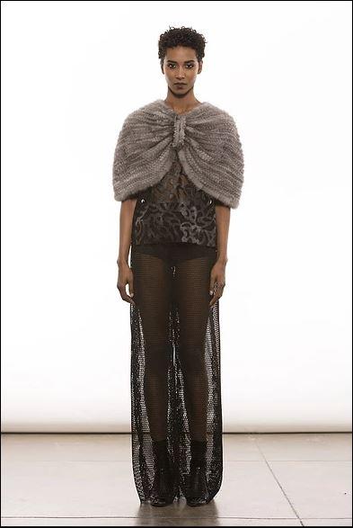 Adrienne Landau fur wrap