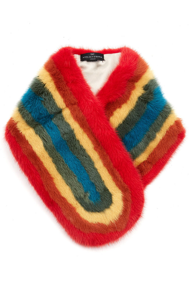 Anya Hindmarch fur scarf fur gifts