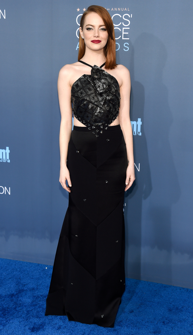 Actress Emma Stone attends The 22nd Annual Critics' Choice Awards