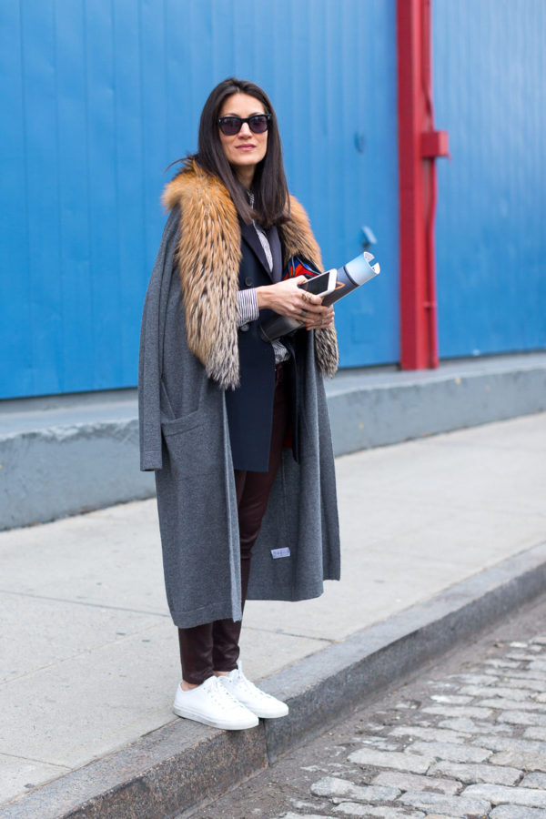 A bold fur collar on a coat make a great combination