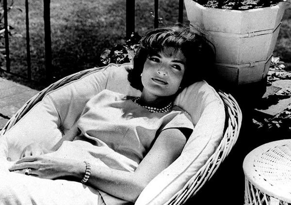 Jackie Kennedy always favored her iconic double strand of pearls