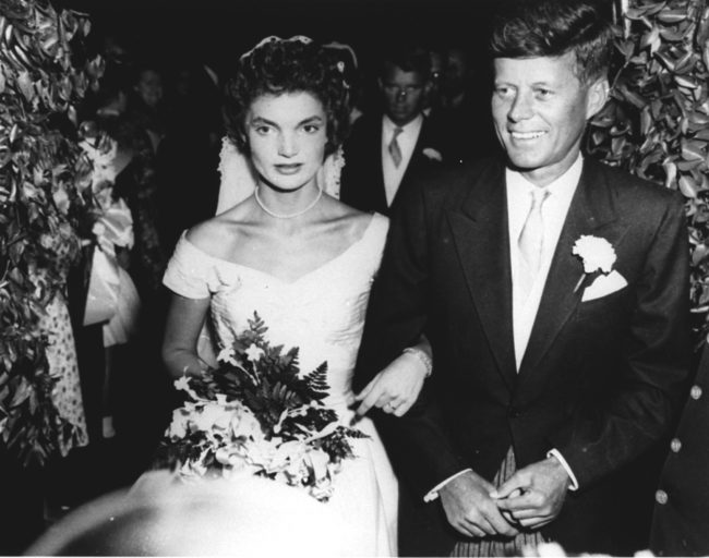 Kennedy wedding day photo 1953