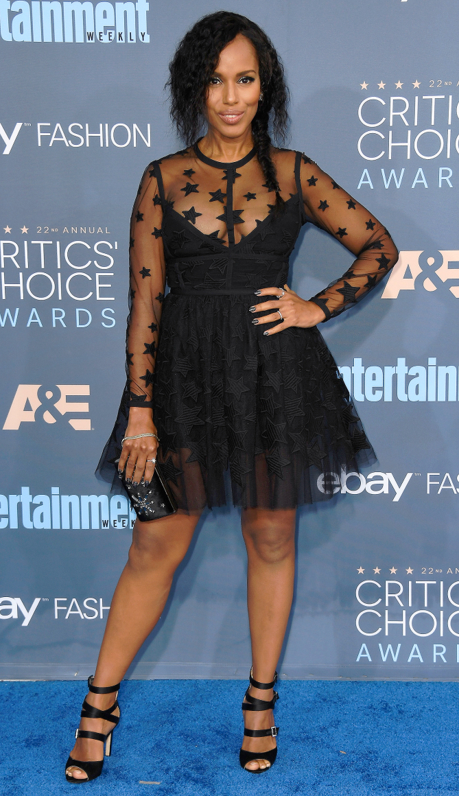 Kerry Washington attends The 22nd Annual Critics' Choice Awards