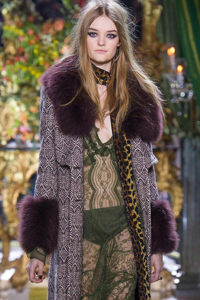 Roberto Cavalli Fall 2016 fur collars