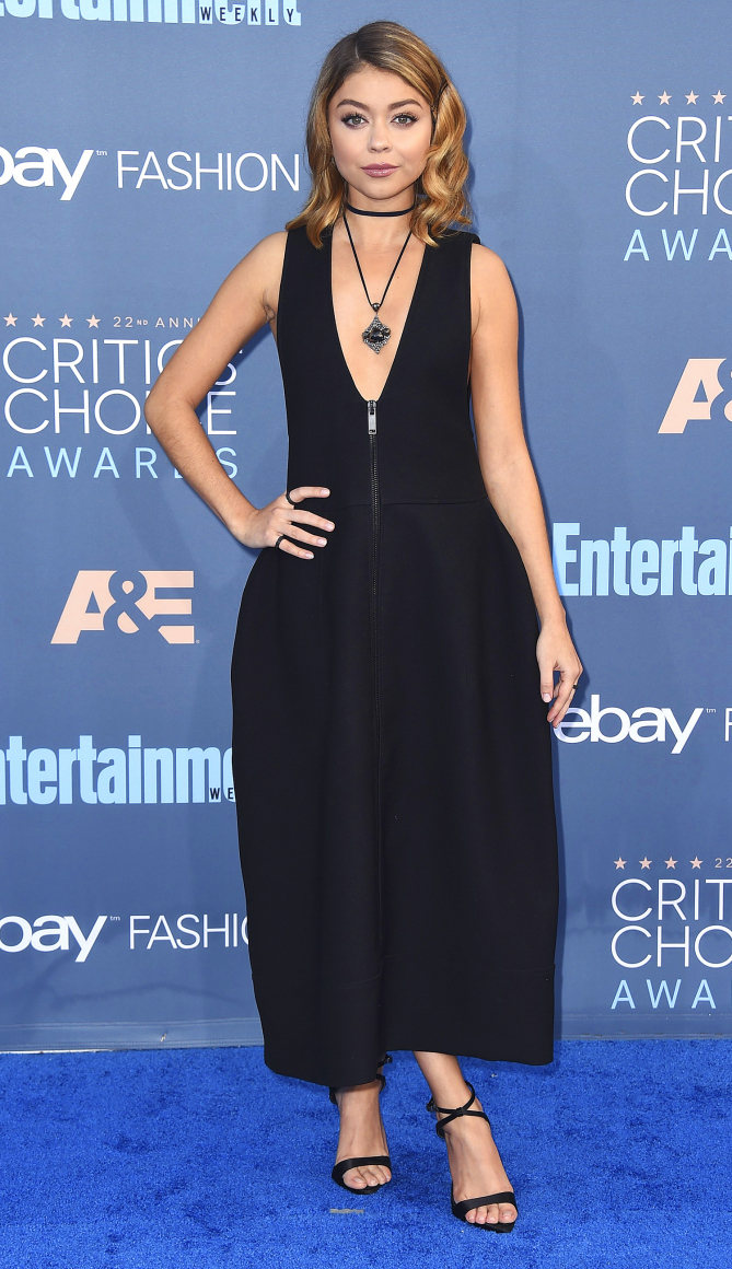 Sarah Hyland arrives at the 22nd annual Critics' Choice Awards