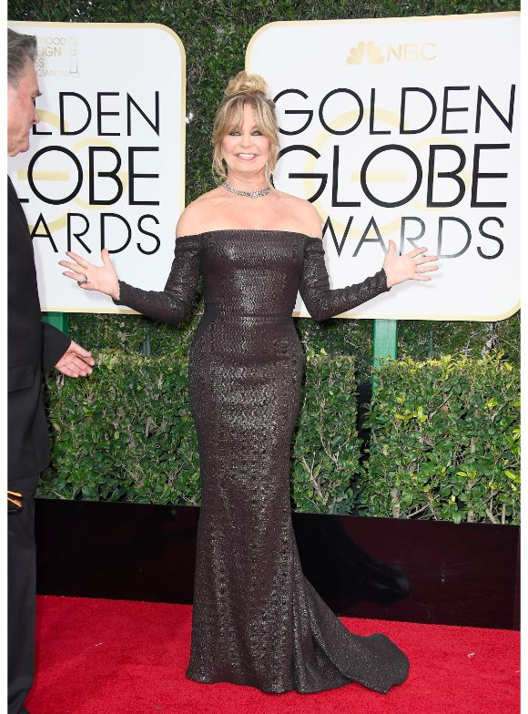 Goldie Hawn at the 2017 Golden Globes