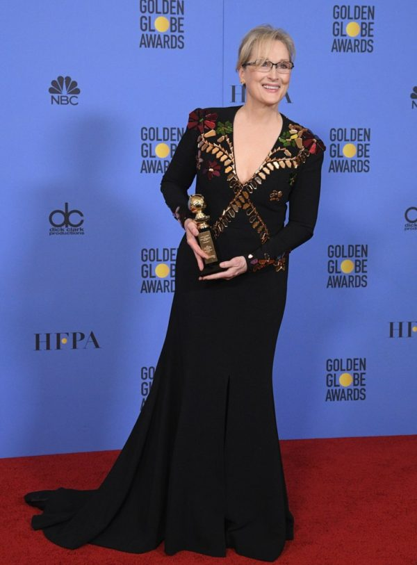 Meryl Streep at the 2017 Golden Globes