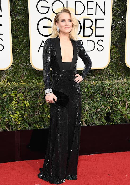 Kristen Bell at the 2017 Golden Globes