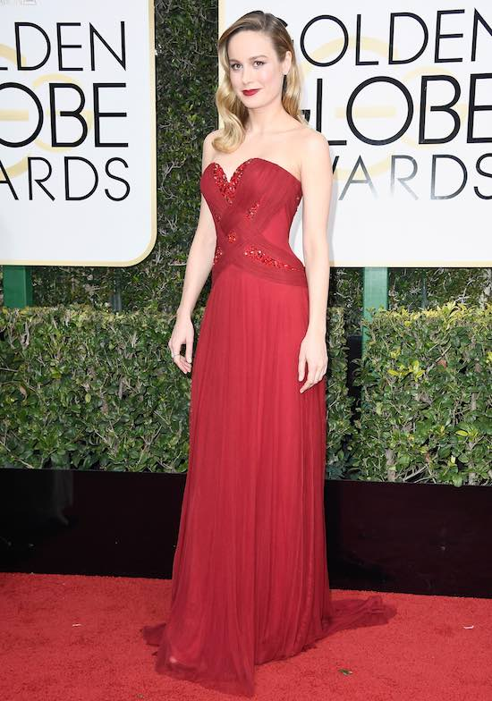 Brie Larson at the 2017 Golden Globes