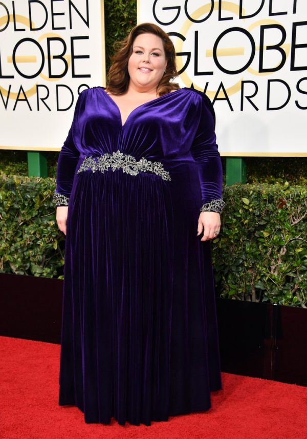 Chrissy Metz at the 2017 Golden Globes