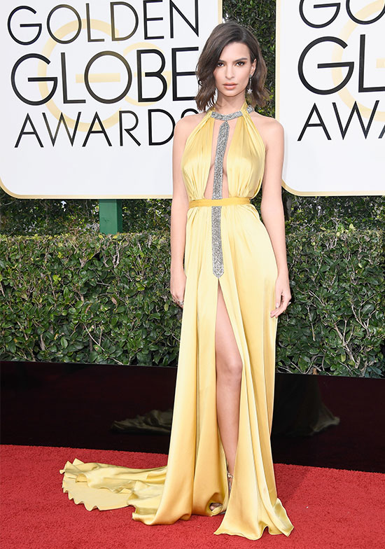 Emily Ratajkowski at the 2017 Golden Globes