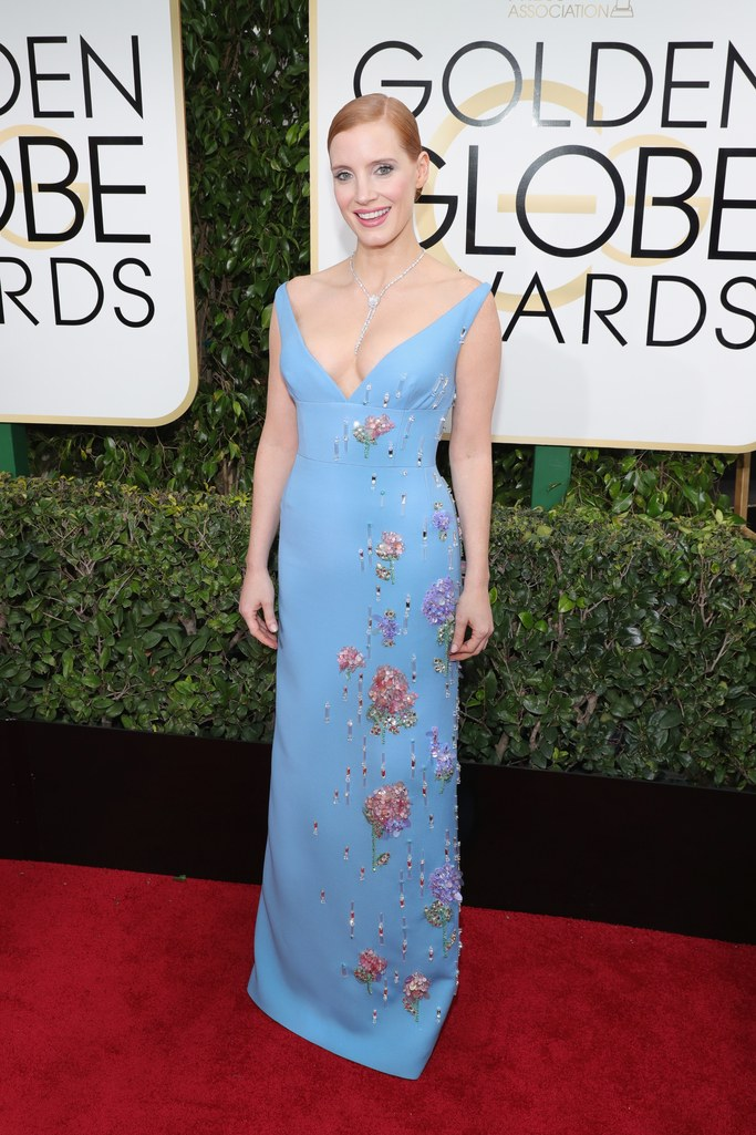 Jessica Chastain at the 2017 Golden Globes