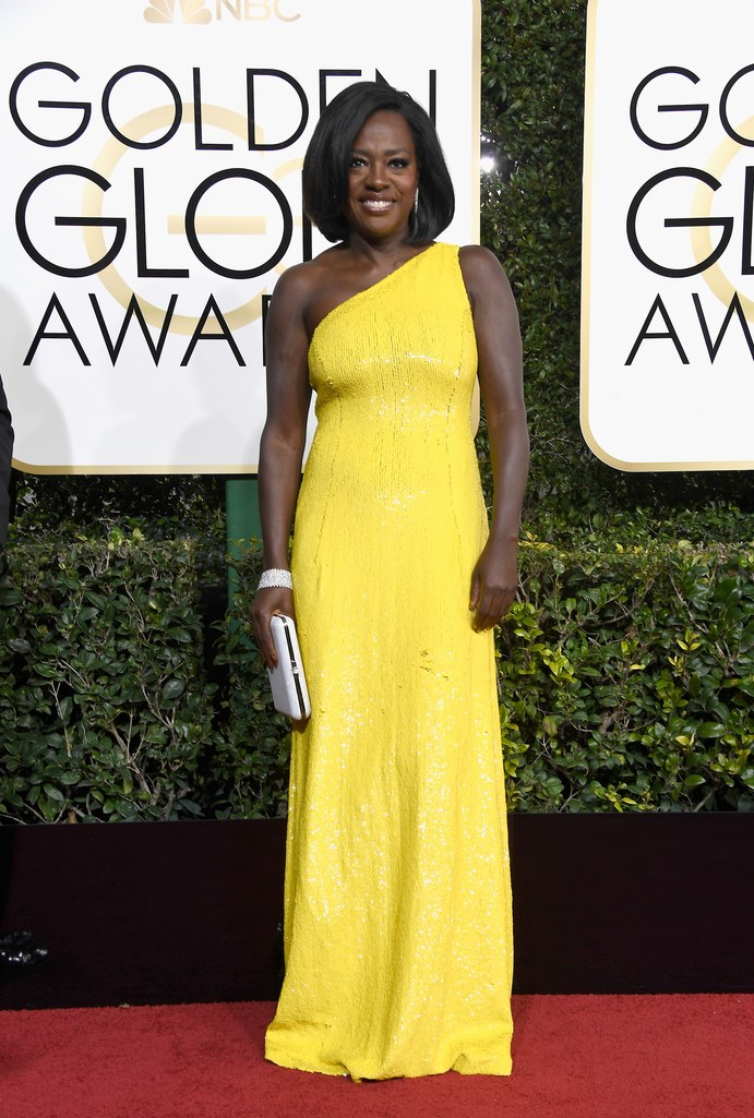 Viola Davis at the 2017 Golden Globes