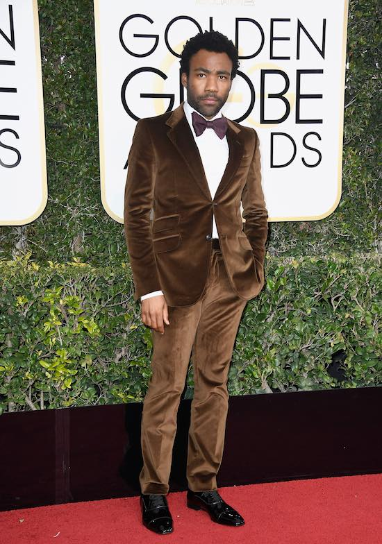 Donald Glover at the 2017 Golden Globes