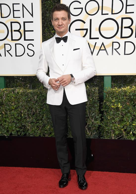 Jeremy Renner at the 2017 Golden Globes