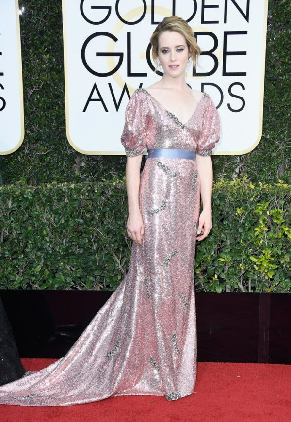 Claire Foy at the 2017 Golden Globes