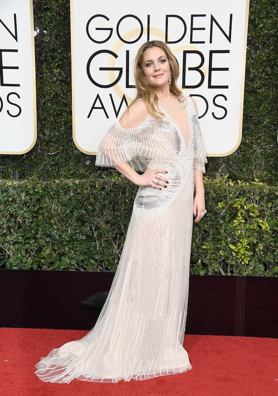Drew Barrymore at the 2017 Golden Globes