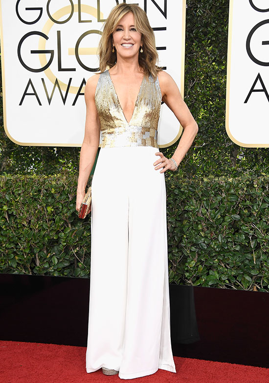 Felicity Huffman at the 2017 Golden Globes