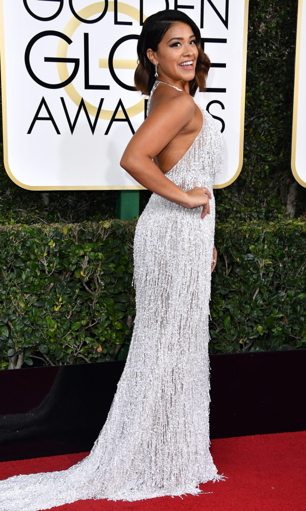 Gina Rodrigues at the 2017 Golden Globes