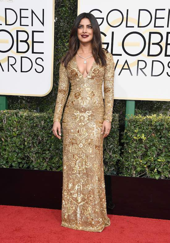 Priyanka Chopra at the 2017 Golden Globes
